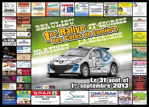 31 Août & 1er Septembre 2013 Rallye Régional des Côtes de Lumière