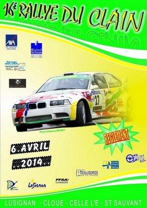 5 & 6 Avril 2014    16ème Rallye Régional du Clain