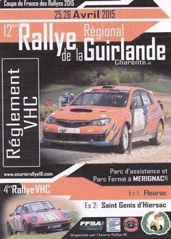 25 & 26 Avril 2015 Rallye Régional de La Guirlande