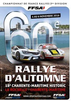 4-5 et 6 Novembre 2016 60ème Rallye d'Automne La Rochelle Charente-Maritime