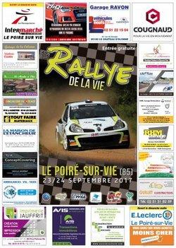 23 & 24 Septembre 2017     15ème Rallye Régional de La Vie