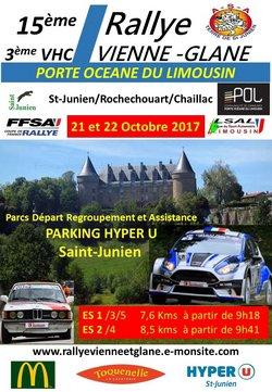 21 & 22 Octobre 2017   15ème Rallye Régional Vienne-Glane Porte Océane du Limousin