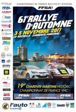 3-4 & 5 Novembre 2017   61ème Rallye d'Automne La Rochelle Charente-Maritime