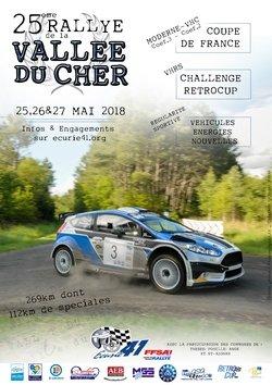 25-26 & 27 Mai 2018   14ème Rallye National de la Vallée du Cher (V.H.C, V.H.R.S et V.E.N.R.S