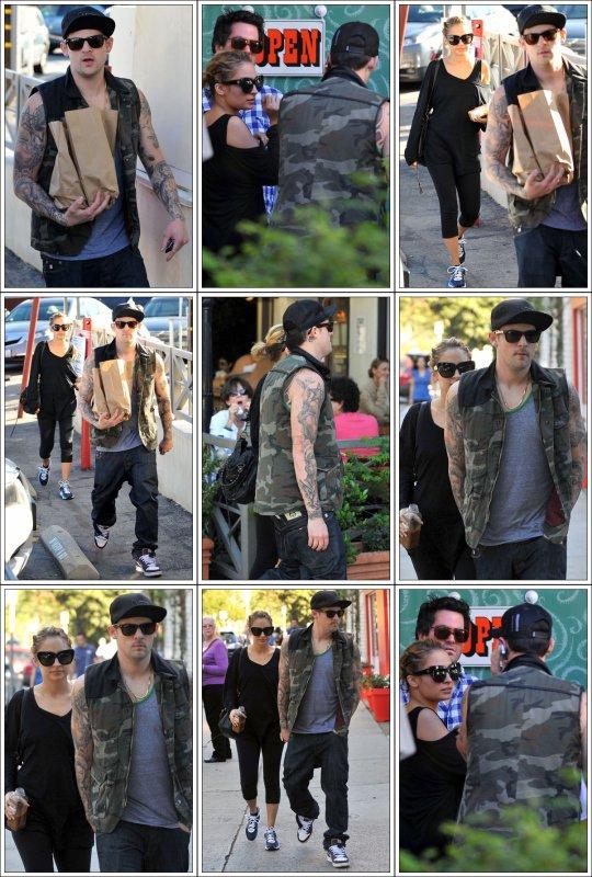 Joel Madden et Nicole Richie à Brentwood le 13 novembre