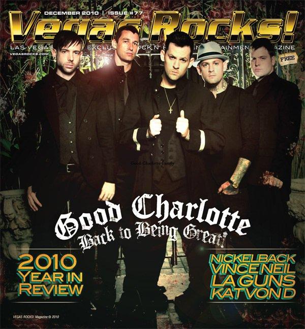 Good Charlotte en couverture de Vegas Rocks Magazine