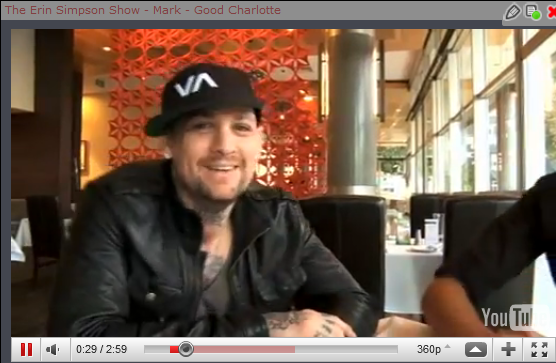 The Erin Simpson Show - Mark - Good Charlotte / Twitpic