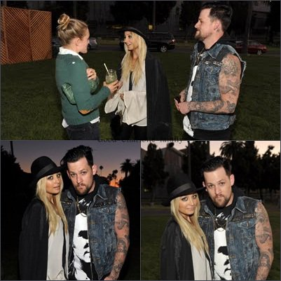 Joel Madden & Nicole Richie au Band of Outsiders