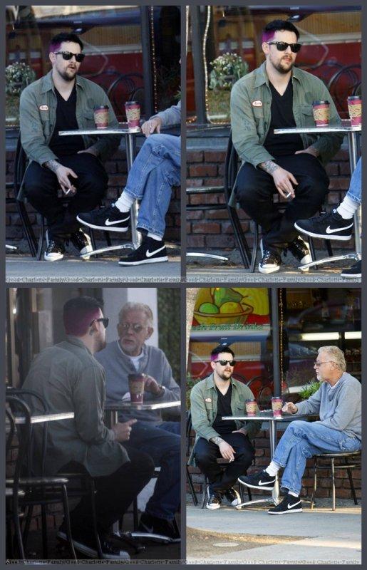 Joel Madden avec son père + quittant le salon de Andy Lecompte