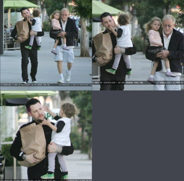 Photo shoot de Joel Madden + Sorti père, fils et enfants + photos persos