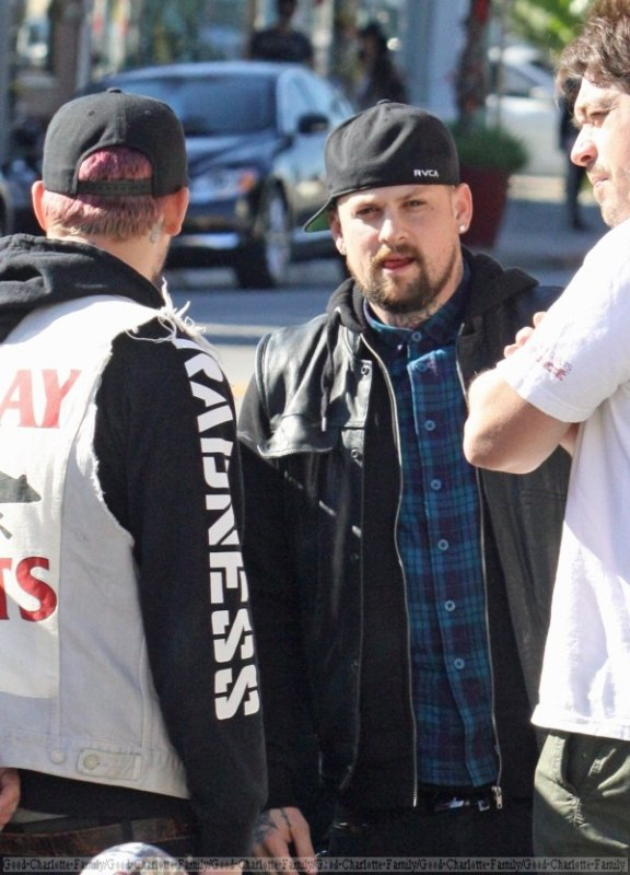 Good charlotte - DJ Set  + Joel & Benji out and about in Beverly Hills