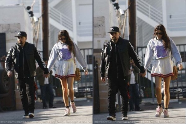 Benji Madden & Eliza Doolittle to Hugo Cafe hand in hand