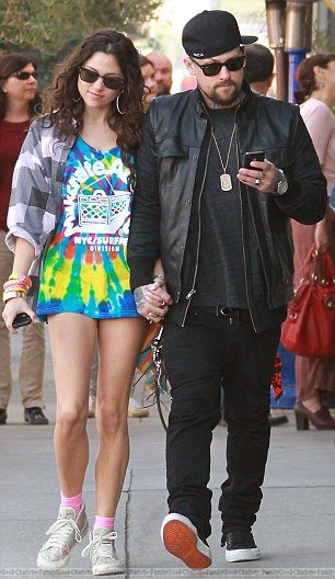 Benji Madden & Eliza Doolittle out & about in LA street hand in hand