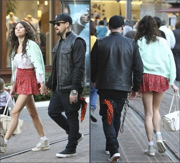 Benji Madden & Eliza Doolittle out & about in upmarket Beverly Hills - The Grove