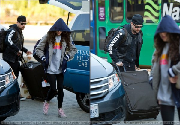 Benji Madden & Eliza Doolittle at the airport