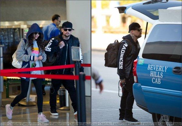 Benji Madden & Eliza Doolittle at the airport