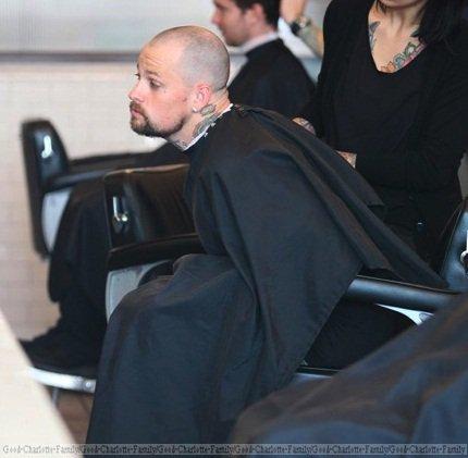 Benji Madden shaved