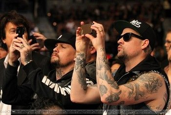 Joel & Benji Madden at the UFC fight - 04th February 2012 - Las Vegas