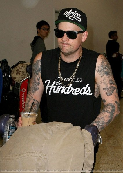 Joel Madden arrives at Sydney airport