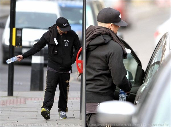 Benji Madden & Eliza Doolittle out & about in Primrose Hill