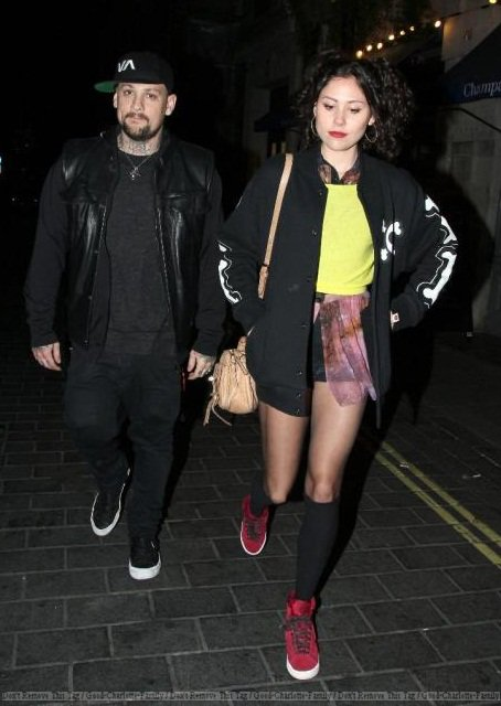 Benji Madden & Eliza Doolittle at Anaya night club on February 24, 2012 in London