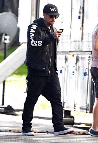 Dreavyn + Benji Madden on The voice Australia set - 23.03.2012