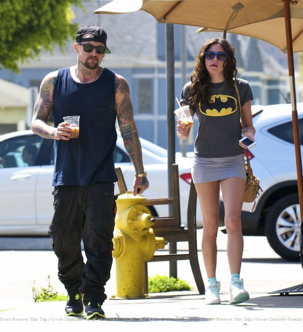 Benji Madden & Eliza Doolittle out & about in LA street 07.03.2012