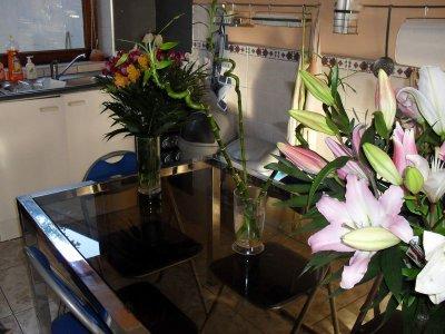 mes fleurs reçues pour mon annif