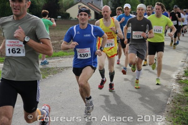 Samedi 5 Mai 2012 :  Course de la Colline de Niederhausbergen  (11,5 Km courus en 47 Minutes 11 Secondes)