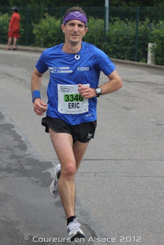 Dimanche 3 juin 2012 :  Semi-Marathon de Molsheim (21,100Km courus en 1 Heure 24 Minutes 13 Secondes)