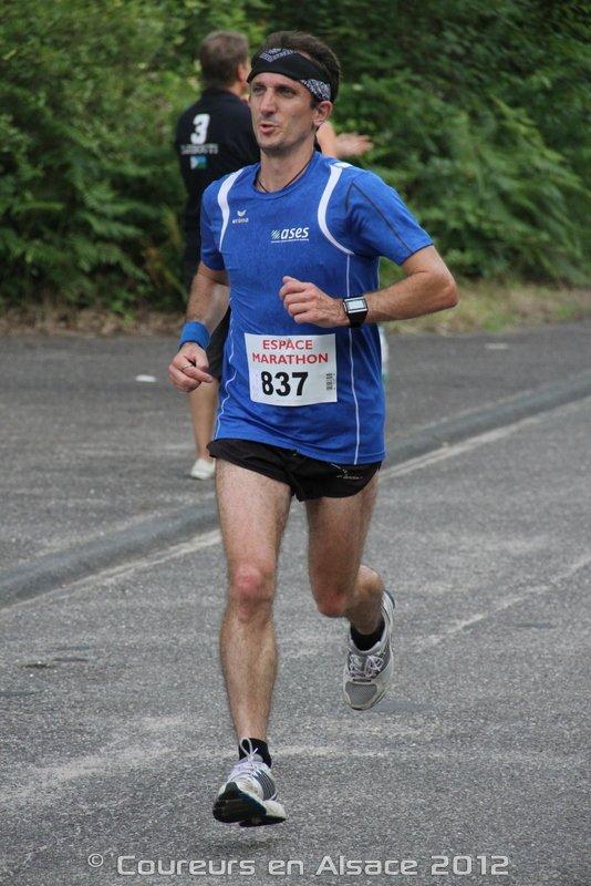 Samedi 30 Juin 2012 :  Ronde des Bûcherons de Schirrhein  (10 Km courus en 40 Minutes 19 Secondes)