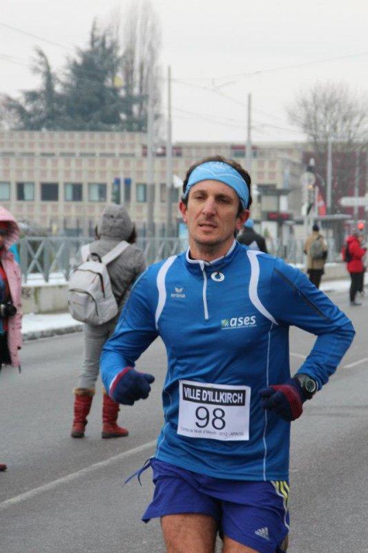Dimanche 9 Décembre 2012 :  Corrida d'Illkirch (10 Km courus en 37 Minutes 03 Secondes)