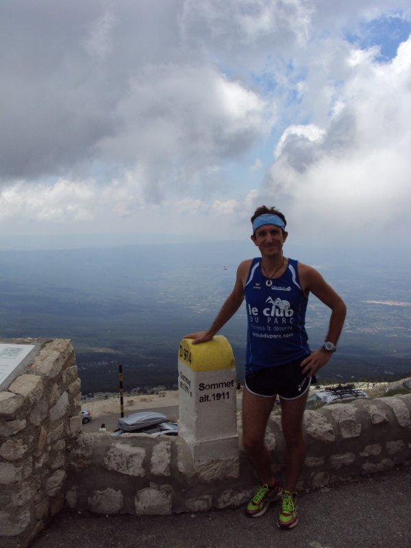Jeudi 11 juillet 2013 :  MONT VENTOUX  (Ascention de 21 Km effectuée en 2H24M19S)