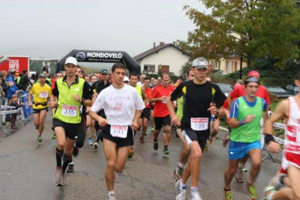 Course des Châteaux d'Ottrott (10Km courus en 39M10S et 5Km courus en 22M47S)