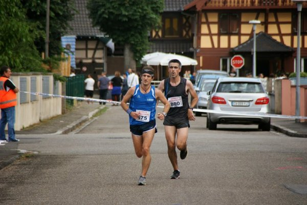 Samedi 5 Juillet 2014 :  Ronde des Bûcherons de Schirrhein (10Km courus en 37M00)