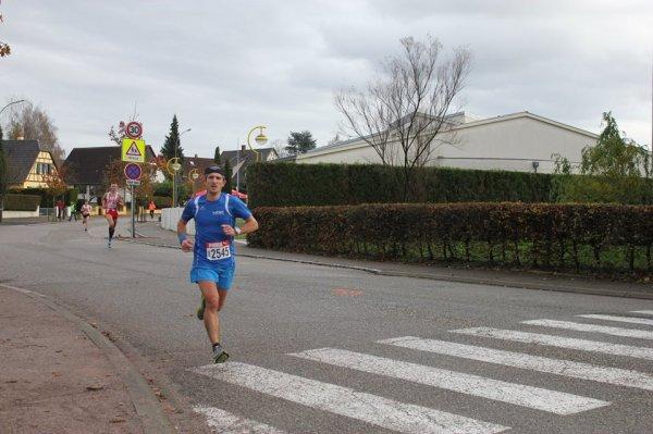 Dimanche 16 novembre 2014 :  Course de Brumath (10Km courus en 36M48S)