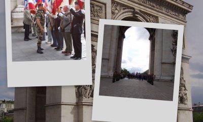 LE 5 PARTICIPE AU RAVIVAGE DE LA FLAMME A L'ARC DE TRIOMPHE