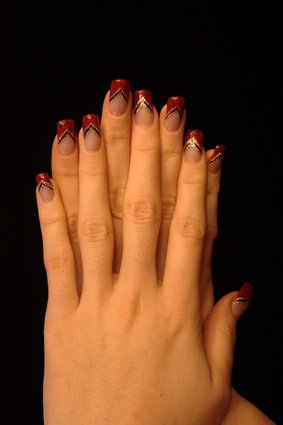 French rouge, nail art