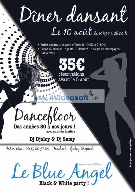 Diner Dansant le 10 aout 2013 au Blue Angel de saint pierre