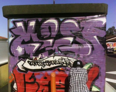 Ptit graff collectif m2sf au festival hip hop d'angresse !;)