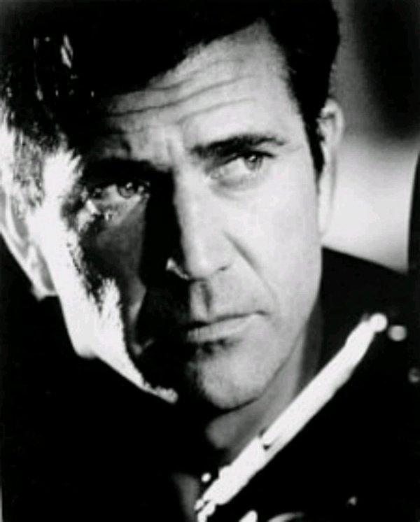 Mel gibson en noir et blanc