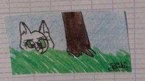 Scène de chasse (?) dans la forêt