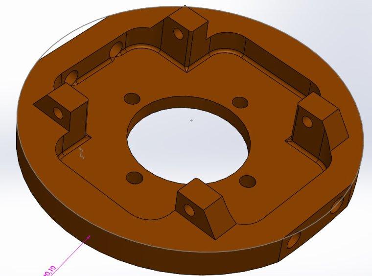 modélisation 3D flasque alu vario 100