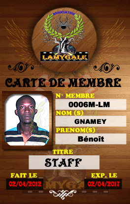 QUELQUES MEMBRES DU STAFF DE L'ASSOCIATION LAMYGALE