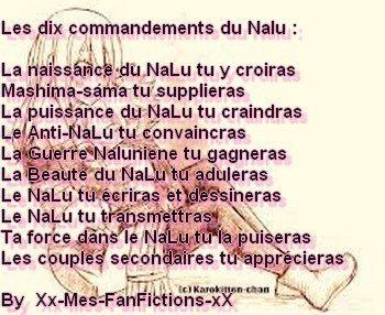 Les 10 commendements du Nalu !