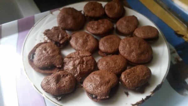 macaron au chocolat maison