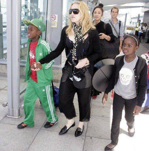 Madonna 19 juillet aéroport de Londres