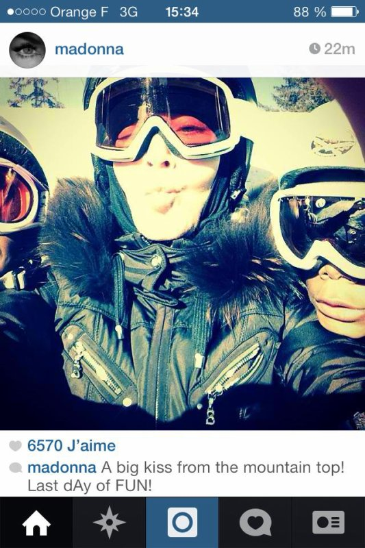 Madonna au ski