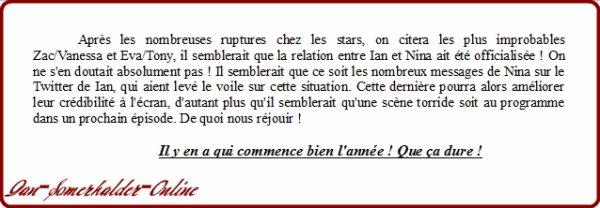 .  La Relation Ian/Nina officialisée !  .