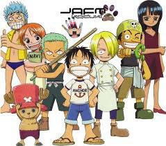 one piece: les personnages principaux en enfant